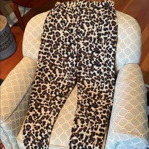 Cheetah dress pants